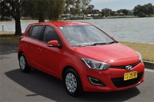 2013 Hyundai i20 PB MY12.5 Active Red 4 Speed Automatic Hatchback Five Dock Canada Bay Area Preview
