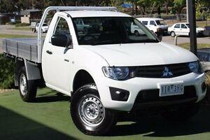2013 Mitsubishi Triton MN MY14 GL White 5 Speed Manual Cab Chassis Berwick Casey Area Preview