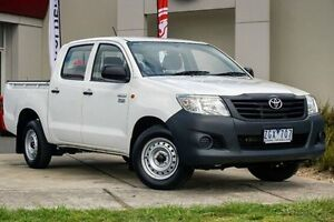 2012 Toyota Hilux TGN16R MY12 Workmate Double Cab White 4 Speed Automatic Utility Wendouree Ballarat City Preview