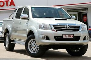 2012 Toyota Hilux KUN26R MY12 SR5 Double Cab Silver 5 Speed Manual Utility Woolloongabba Brisbane South West Preview