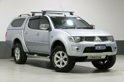 2014 Mitsubishi Triton MN MY15 GLX-R (4x4) Silver 5 Speed Manual 4x4 Double Cab Utility Bentley Canning Area Preview