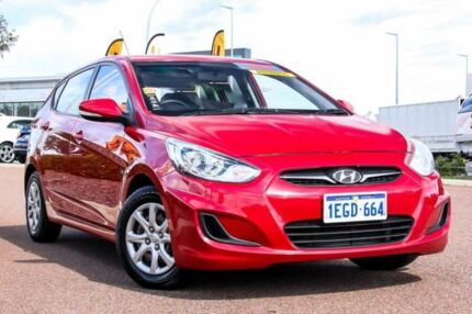 2013 Hyundai Accent RB Active Red 4 Speed Sports Automatic Hatchback Rockingham Rockingham Area Preview