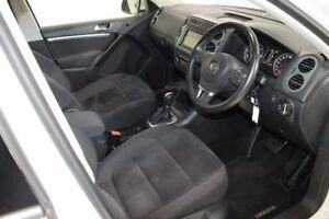 2014 Volkswagen Tiguan 5N MY15 130TDI DSG 4MOTION White 7 Speed Sports Automatic Dual Clutch Wagon
