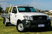 2010 Toyota Hilux TGN16R MY10 Workmate White 5 Speed Manual Cab Chassis Wangara Wanneroo Area Preview