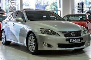 2010 Lexus IS250 GSE20R MY10 Prestige Silver 6 Speed Sports Automatic Sedan North Melbourne Melbourne City Preview
