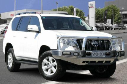 2015 Toyota Landcruiser Prado KDJ150R MY14 GXL Glacier White 5 Speed Sports Automatic Wagon Adelaide CBD Adelaide City Preview