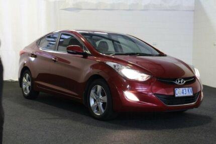 2012 Hyundai Elantra MD Elite Red Allure 6 Speed Sports Automatic Sedan Derwent Park Glenorchy Area Preview