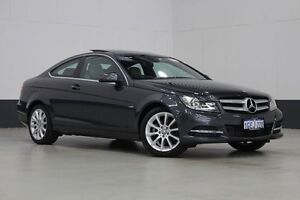 2012 Mercedes-Benz C180 W204 MY12 BE Grey 7 Speed Automatic G-Tronic Coupe Bentley Canning Area Preview
