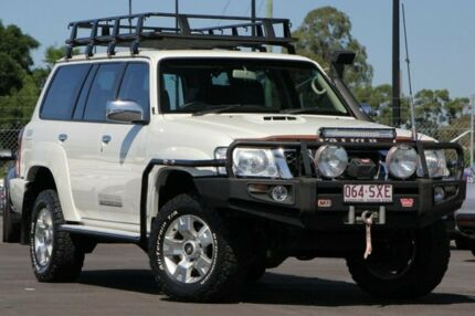 2012 Nissan Patrol Y61 GU 8 ST White 5 Speed Manual Wagon