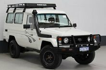 2003 Toyota Landcruiser HZJ78R (4x4) 11 Seat White 5 Speed Manual 4x4 TroopCarrier Bentley Canning Area Preview