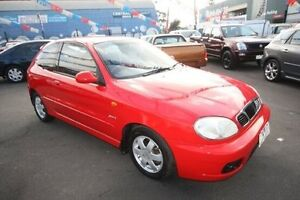 2001 Daewoo Lanos Sports Red 4 Speed Automatic Hatchback Kingsville Maribyrnong Area Preview