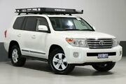 2015 Toyota Landcruiser VDJ200R MY13 Sahara (4x4) Pearl White 6 Speed Automatic Wagon Bentley Canning Area Preview
