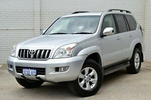 2007 Toyota Landcruiser Prado KDJ120R Grande Silver 5 Speed Automatic Wagon Midland Swan Area Preview