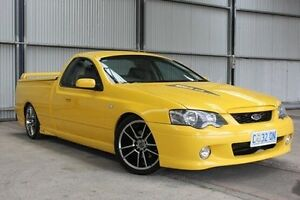 2005 Ford Falcon BF XR8 Ute Super Cab Yellow 6 Speed Manual Utility Invermay Launceston Area Preview