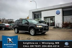2010 Mitsubishi Outlander XLS w/ Heated Leather Seats/7 Passenge