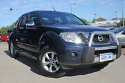 2012 Nissan Navara D40 MY12 ST (4x4) Dark Blue 6 Speed Manual Dual Cab Pick-up Victoria Park Victoria Park Area Preview