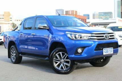 2016 Toyota Hilux GUN126R SR5 Double Cab Nebula Blue 6 Speed Sports Automatic Utility