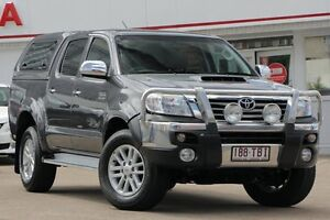 2013 Toyota Hilux KUN26R MY12 SR5 Double Cab Graphite 4 Speed Automatic Utility Woolloongabba Brisbane South West Preview
