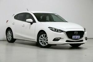 2016 Mazda 3 BN MY17 Maxx White 6 Speed Automatic Hatchback Bentley Canning Area Preview