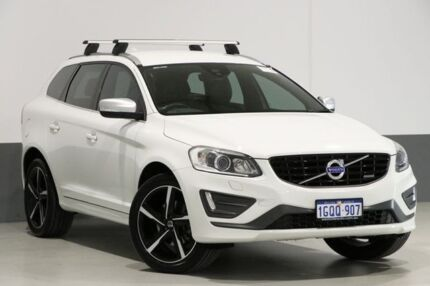 2015 Volvo XC60 DZ MY15 T6 R-Design White 6 Speed Automatic Geartronic Wagon Bentley Canning Area Preview