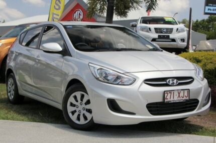 2016 Hyundai Accent RB4 MY16 Active Silver 6 Speed Constant Variable Hatchback