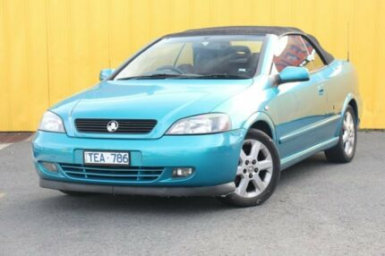 2004 Holden Astra TS MY03 Blue 5 Speed Manual Convertible Heatherton Kingston Area Preview