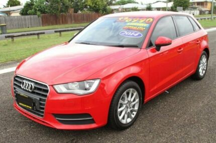 2014 Audi A3 8V MY15 Attraction Sportback S tronic Red 6 Speed Sports Automatic Dual Clutch
