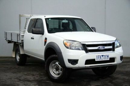 2011 Ford Ranger  Cool White Manual Cab Chassis Cranbourne Casey Area Preview