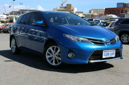 2012 Toyota Corolla ZRE182R Ascent Sport Tidal Blue 6 Speed Manual Hatchback