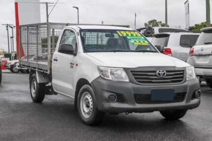 2012 Toyota Hilux TGN16R MY12 Workmate 4x2 White 4 Speed Automatic Cab Chassis Monkland Gympie Area Preview