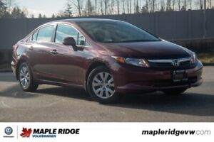 2012 Honda Civic Sdn LX SUPER LOW KM, GREAT ON GAS, PREFECT COMM