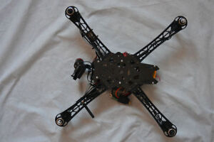 Quad copter FPV DRONE with Brushless GoPro Gimbal
