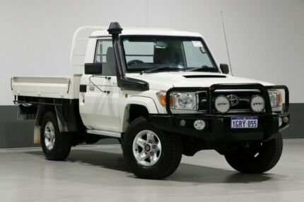 2015 Toyota Landcruiser VDJ79R MY12 Update GXL (4x4) White 5 Speed Manual Cab Chassis Bentley Canning Area Preview
