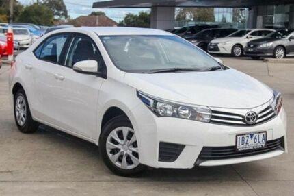 2014 Toyota Corolla White Constant Variable Sedan