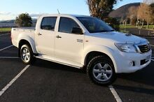 2013 Toyota Hilux KUN26R MY12 SR Double Cab White 4 Speed Automatic Utility Derwent Park Glenorchy Area Preview