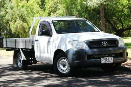 2009 Toyota Hilux TGN16R MY09 Workmate 4x2 White 5 Speed Manual Cab Chassis Hawthorn Mitcham Area Preview