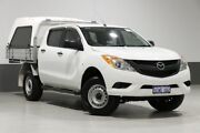 2015 Mazda BT-50 MY13 XT HI-Rider (4x2) White 6 Speed Manual Dual Cab Chassis Bentley Canning Area Preview