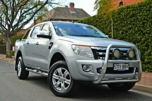 2014 Ford Ranger PX XLT Double Cab Silver 6 Speed Manual Utility Medindie Walkerville Area Preview