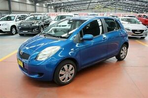 2007 Toyota Yaris NCP91R YRS Blue 5 Speed Manual Hatchback Maryville Newcastle Area Preview