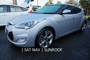 2012 Hyundai Veloster FS2 + Coupe Sleek Silver 6 Speed Manual Hatchback Dandenong Greater Dandenong Preview