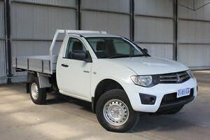 2011 Mitsubishi Triton MN MY12 GLX White 4 Speed Automatic Cab Chassis Invermay Launceston Area Preview