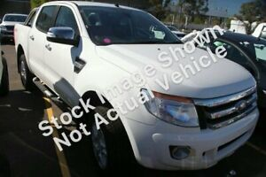 2013 Ford Ranger PX XLT Double Cab White 6 Speed Sports Automatic Utility Gympie Gympie Area Preview