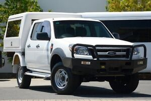 2010 Ford Ranger PK XL Crew Cab White 5 Speed Manual Cab Chassis Robina Gold Coast South Preview