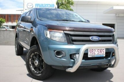 2012 Ford Ranger PX XL Double Cab Blue 6 Speed Sports Automatic Utility