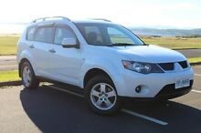 2007 Mitsubishi Outlander ZG MY07 VR-X White 6 Speed Sports Automatic Wagon Derwent Park Glenorchy Area Preview