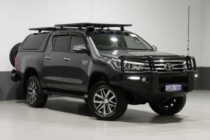 2017 Toyota Hilux GUN126R MY17 SR5 (4x4) Grey 6 Speed Automatic Dual Cab Utility Bentley Canning Area Preview