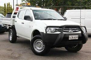2012 Mitsubishi Triton MN MY13 GLX Double Cab White 5 Speed Manual Utility Hillcrest Port Adelaide Area Preview