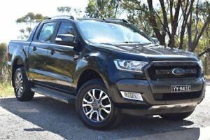 2015 Ford Ranger PX Wildtrak Double Cab Black 6 Speed Sports Automatic Utility St Marys Mitcham Area Preview