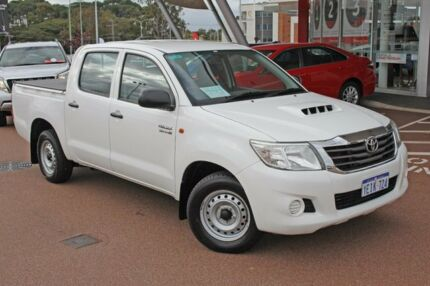 2012 Toyota Hilux KUN16R MY12 SR Double Cab Glacier White 5 Speed Manual Utility Myaree Melville Area Preview