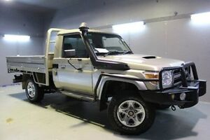 2013 Toyota Landcruiser VDJ79R MY13 GXL Gold 5 Speed Manual Cab Chassis Invermay Launceston Area Preview